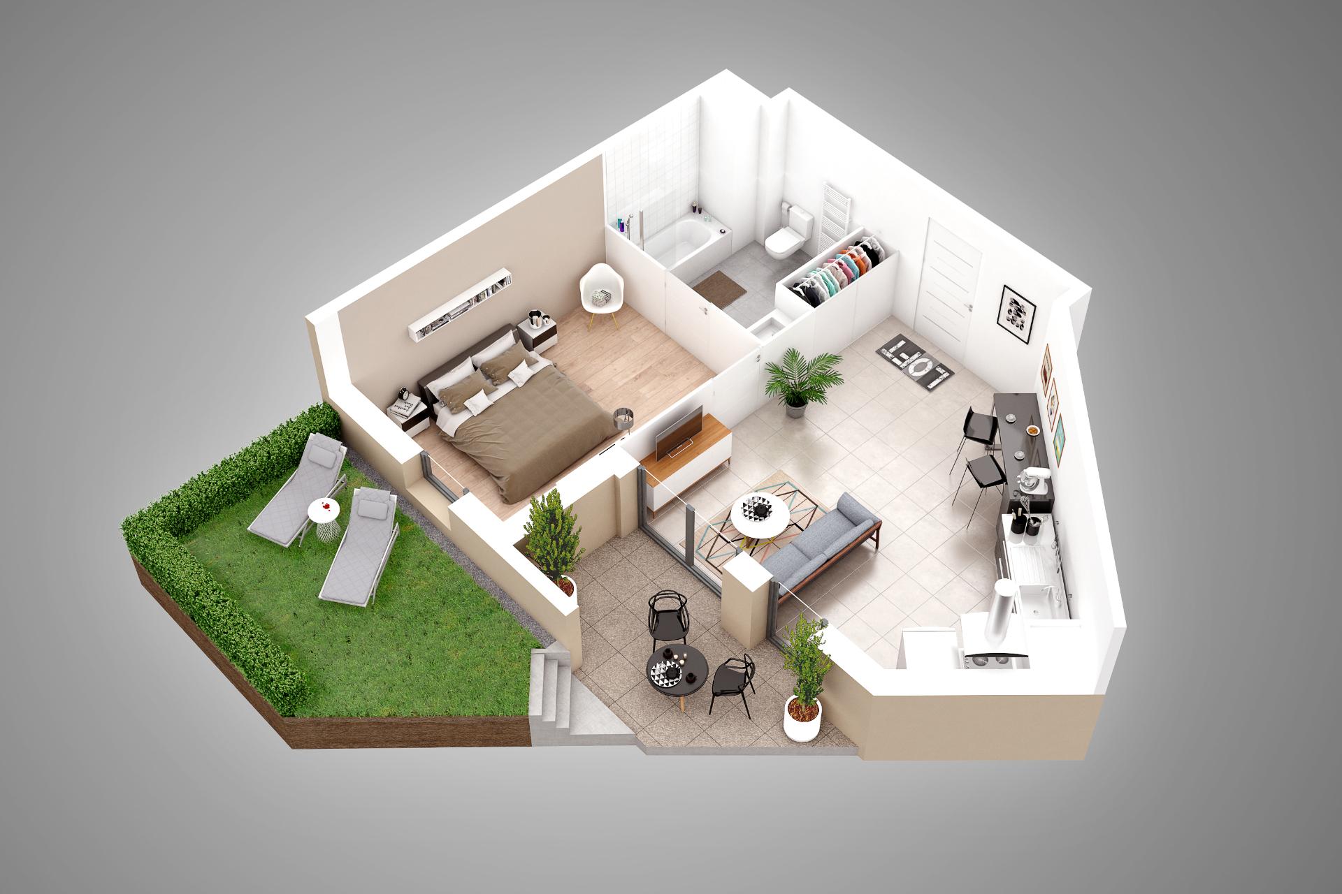 plan appartement 49m2